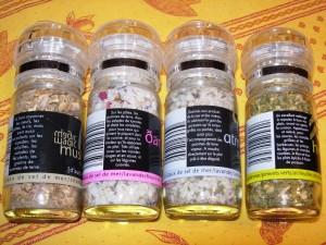 sels aromatisés dos